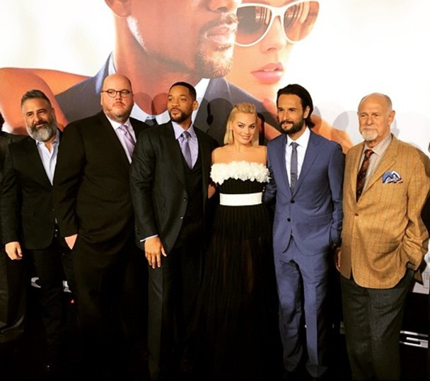 Focus movie premiere, Glenn Ficarra, John Requa, Will Smith, Margo Robbie, Rodrigo Santoro, Gerald McRaney