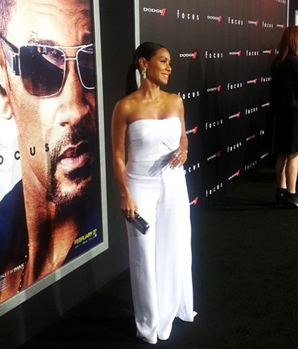 Focus movie premiere, Jada Pinkett Smith