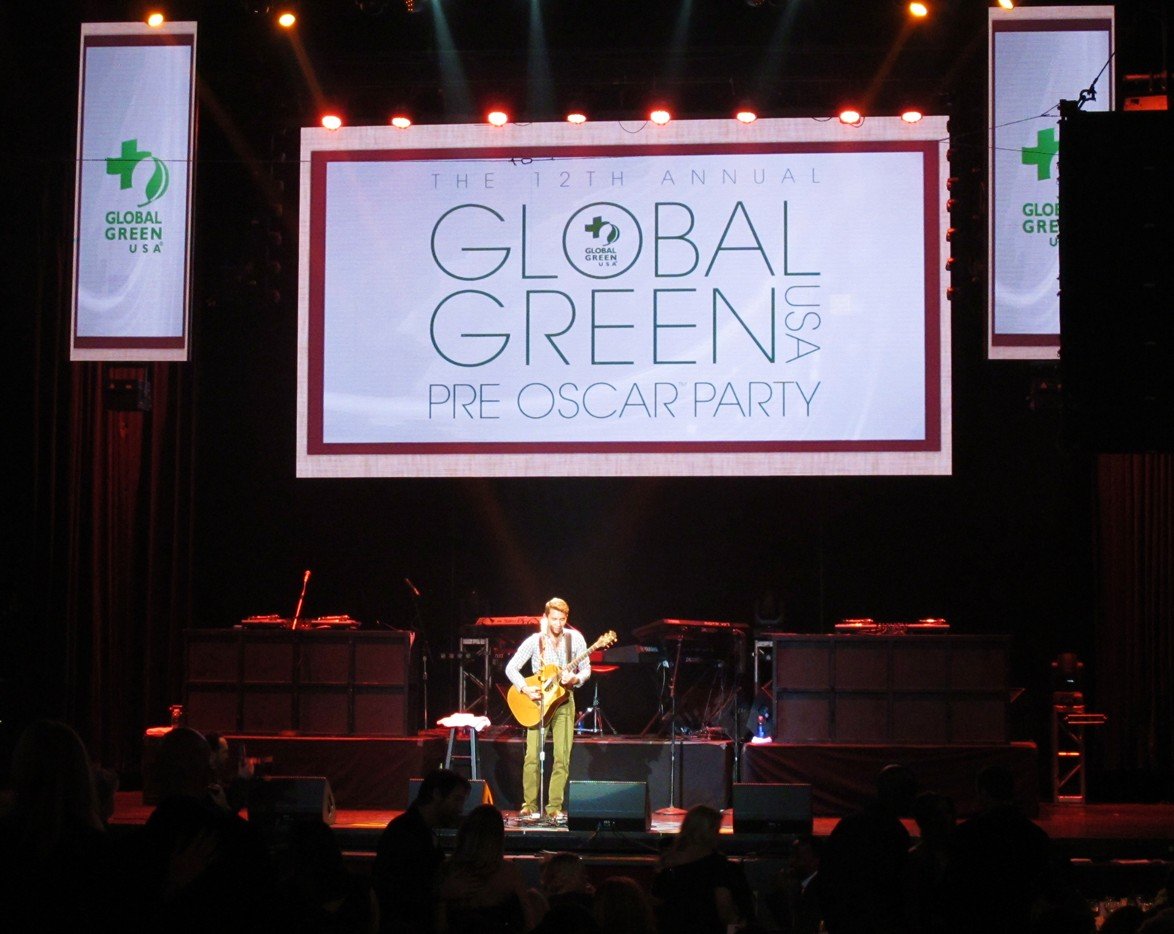 Global Green, Oscar party, performance