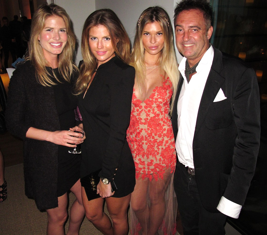 Treats Oscar party, AnnMarie Nitti, Samantha Hoopes, Antoine Verglas