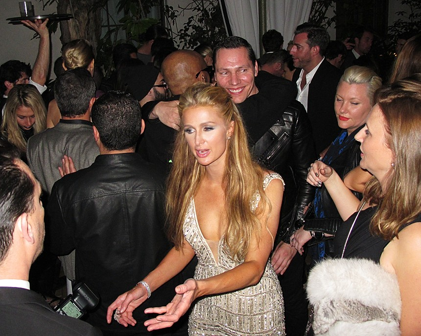 Warner Music Group Grammy party, Paris Hilton, Tiesto