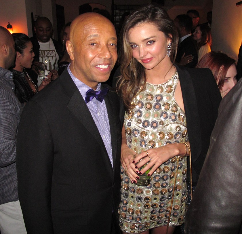 Warner Music Group Grammy party, Russell Simmons, Miranda Kerr