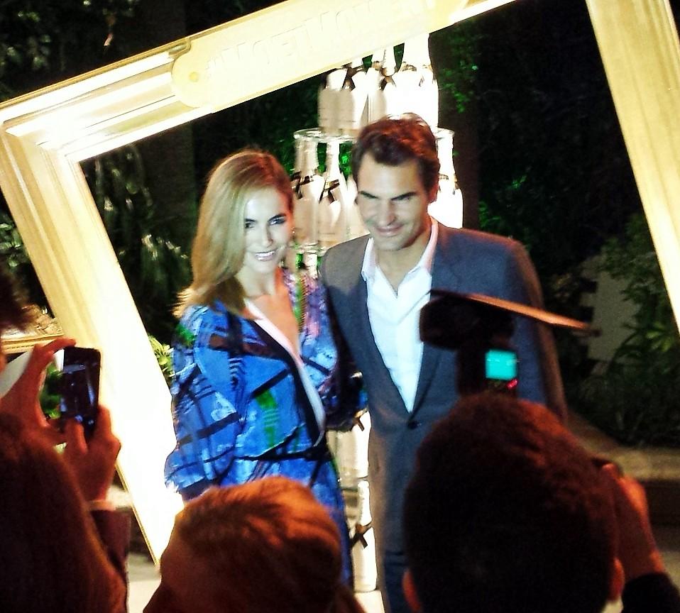 Moet Chandon, Camilla Belle, Roger Federer