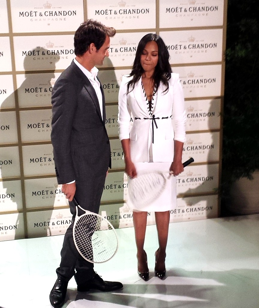 Moet Chandon, Roger Federer, Zoe Saldana