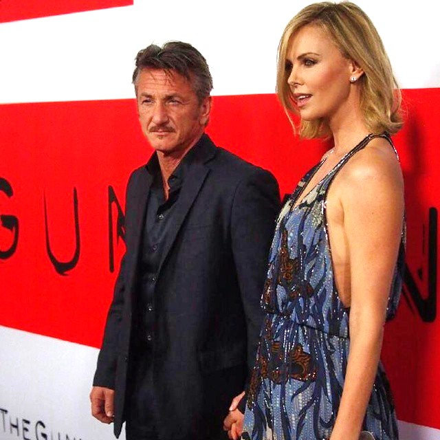 The Gunman, Sean Penn, Charlize Theron, premiere