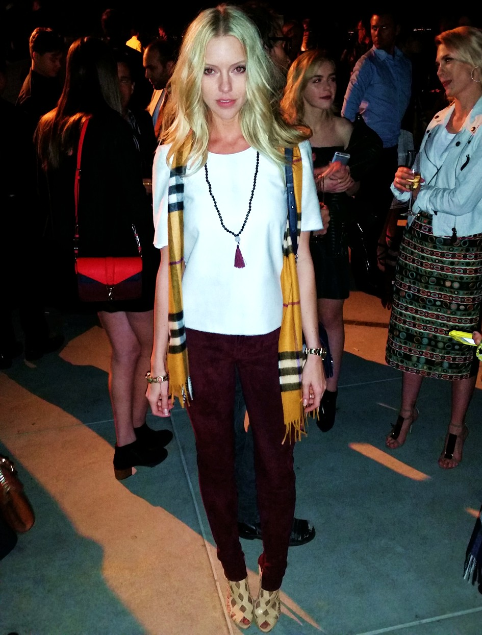 Burberry London in Los Angeles, Elle Evans