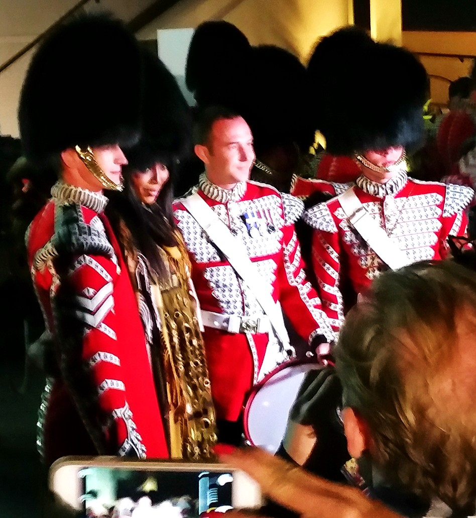 Burberry London in Los Angeles, Naomi Campbell, Scottish Guard