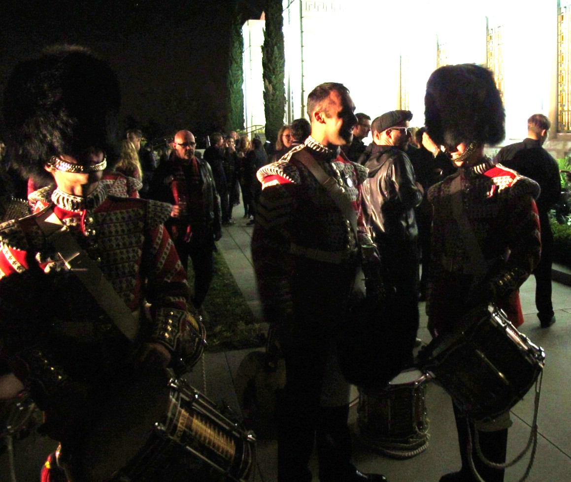 Burberry London in Los Angeles, Scottish Guard, after party