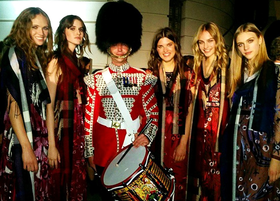 Burberry London in Los Angeles, drummer, models