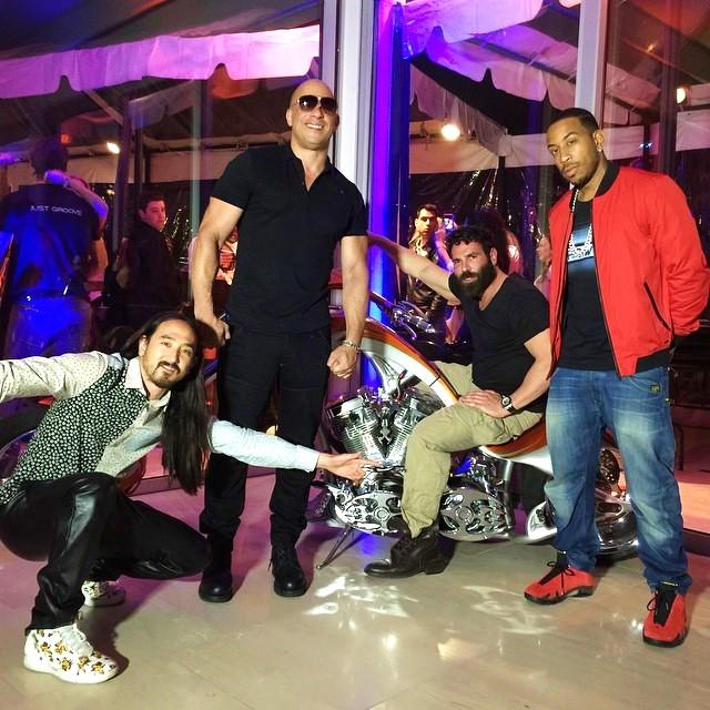 Dan Bilzerian, Vin Diesel, Steve Aoki, Ludacris