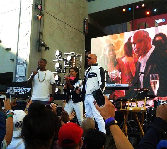 Furious 7, pre party, Vin Diesel, premiere