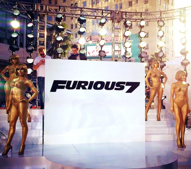 Furious 7, pre party, dancers