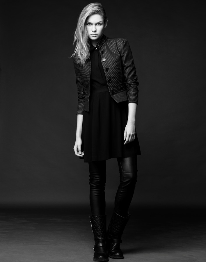 Lada Kravchenko, fashion, black white