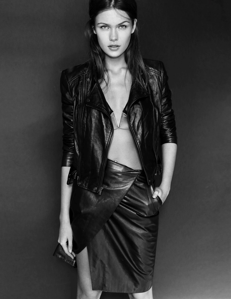 Lada Kravchenko, fashion, leather