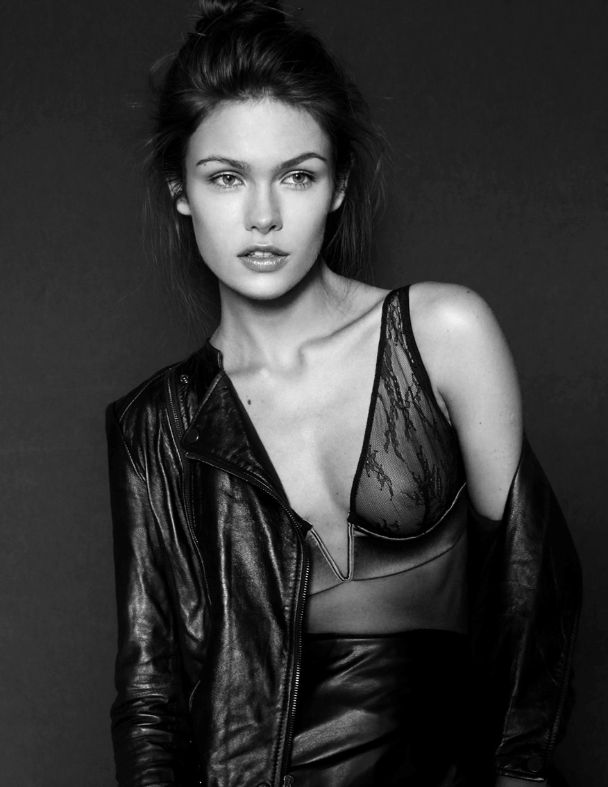 Lada Kravchenko, fashion, sexy, leather