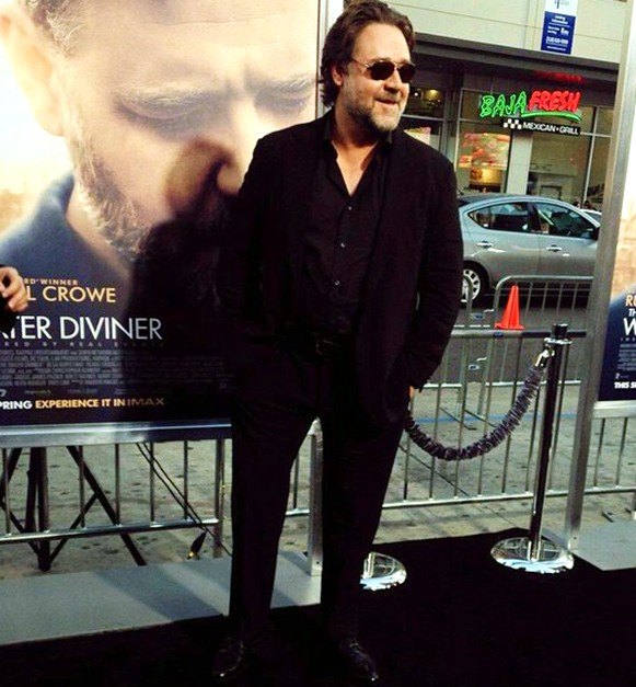 The Water Diviner, Russell Crowe, red carpet