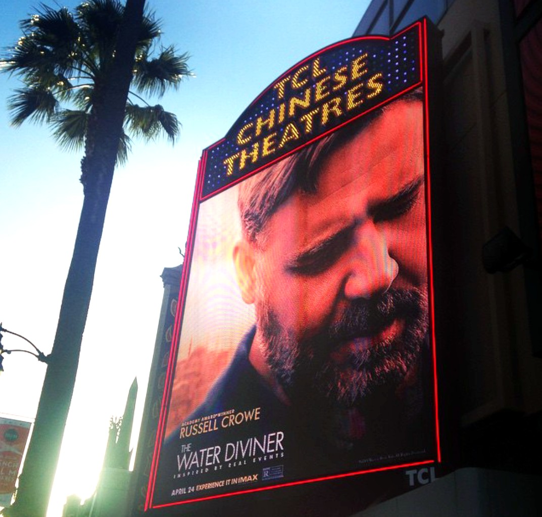 The Water Diviner, premiere