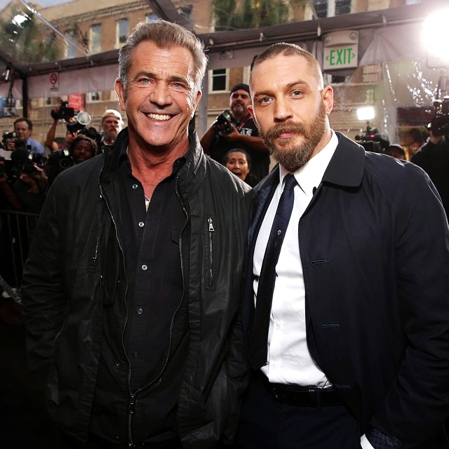 Mad Max Fury Road, Mel Gibson, Tom Hardy, red carpet