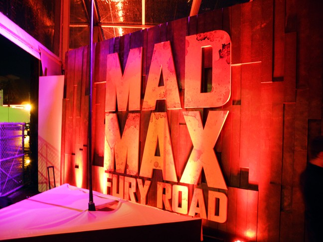 Mad Max Fury Road, after party, LA