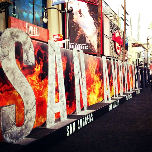 San Andreas movie, premiere, black carpet