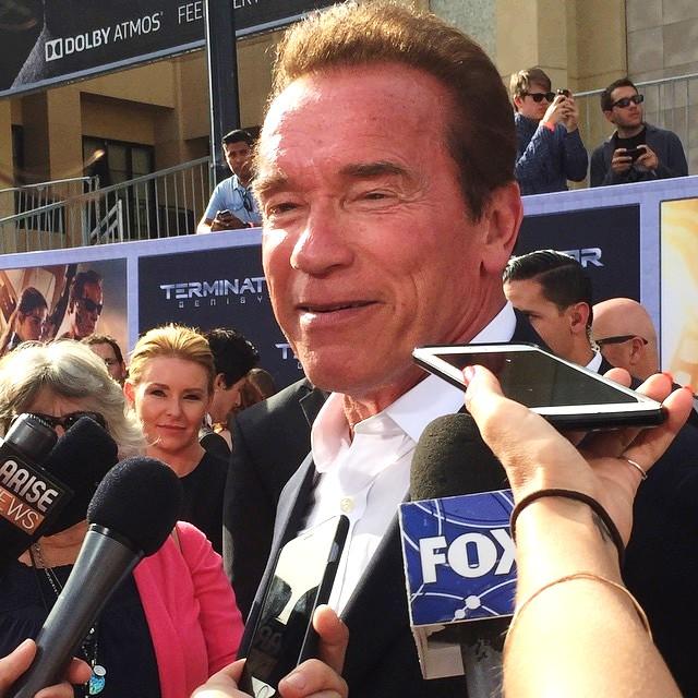 Terminator Genisys, LA premeire, Arnold Schwarzenegger