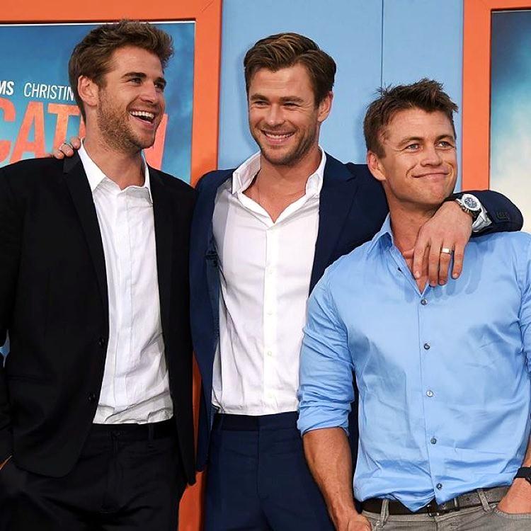 Liam Hemsworth, Chris Hemsworth, Luke Hemsworth, Vacation premiere