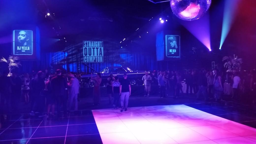 Straight Outta Compton, Microsoft Center, LA, party