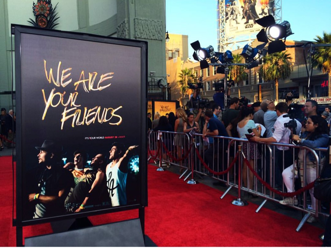 We Are Your Friends, movie premiere