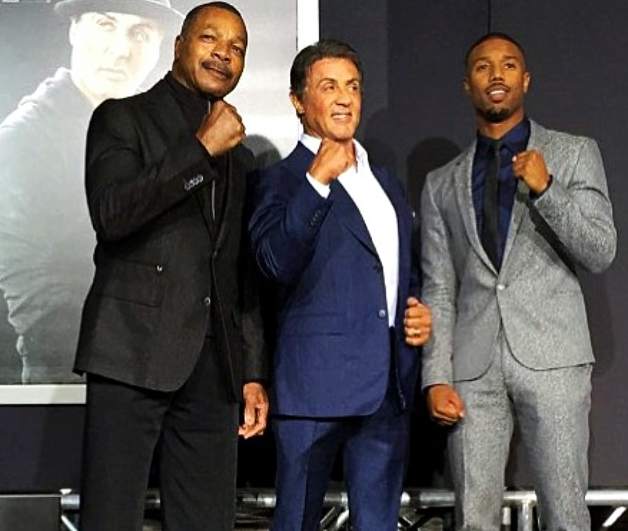 Creed movie premiere, Carl Weathers, Sylvester Stallone, Michael B