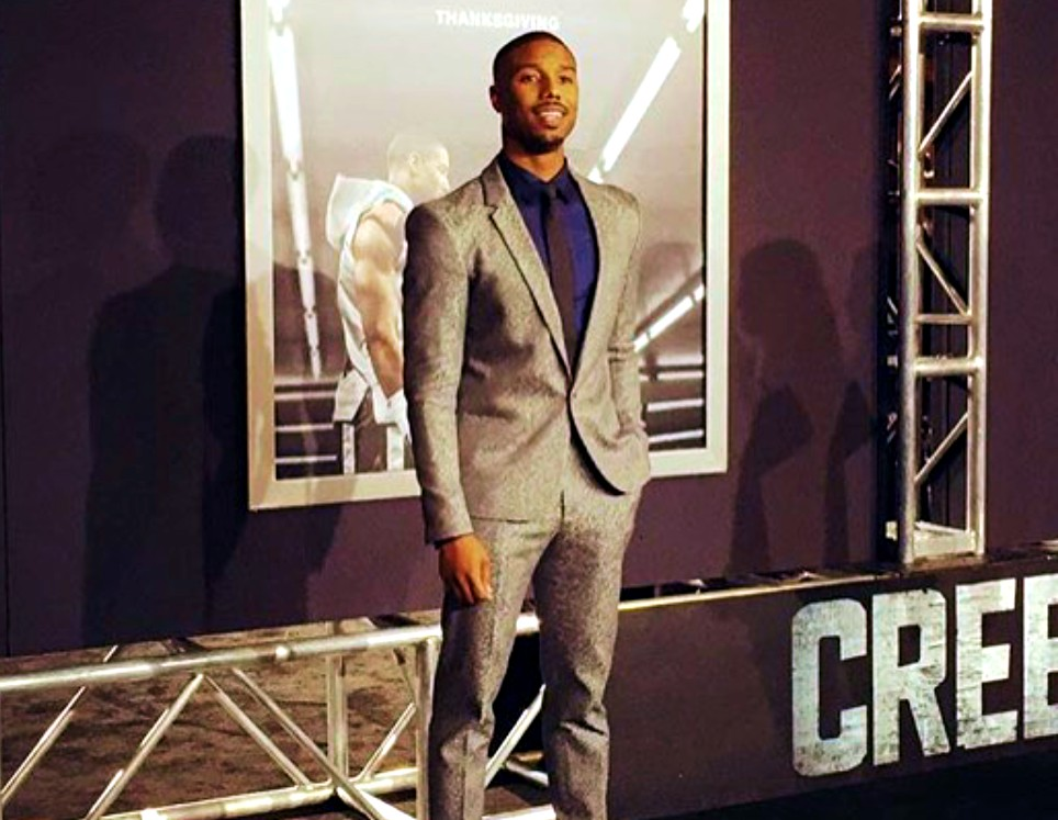 Creed movie premiere, Michael B