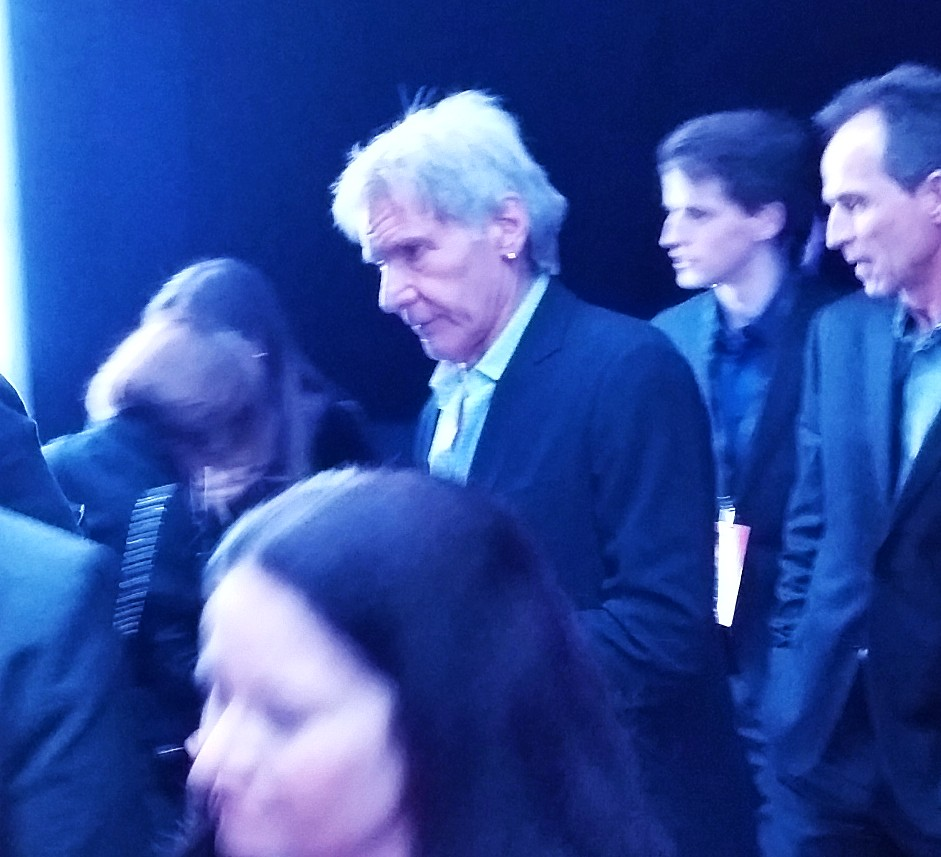 Star Wars, The Force Awakens, Harrison Ford, after party