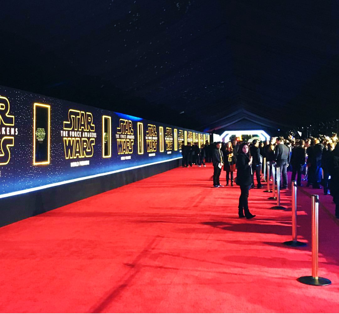 Star Wars, The Force Awakens, red carpet, premiere