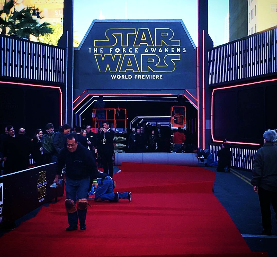 Star Wars, The Force Awakens, red carpet