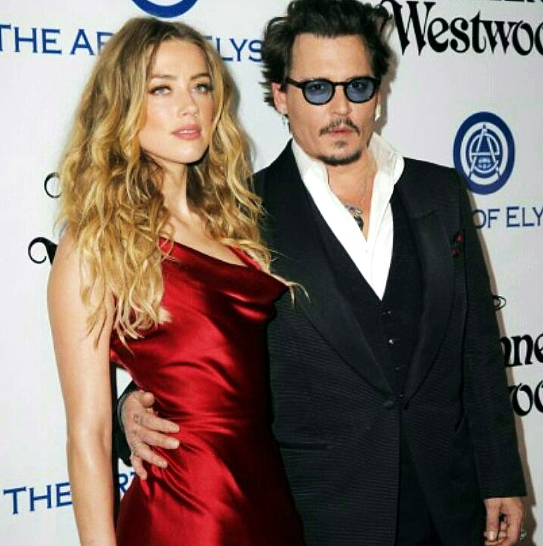 Golden Globes Art Elysium Amber Herd, Johnny Depp