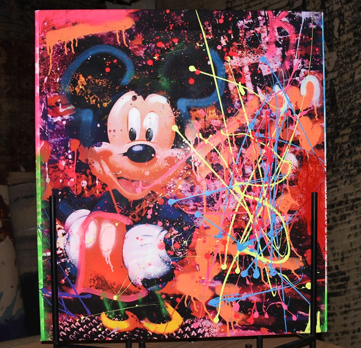 The Chaotic World of Eddy Bogaert, Mickey Mouse, art