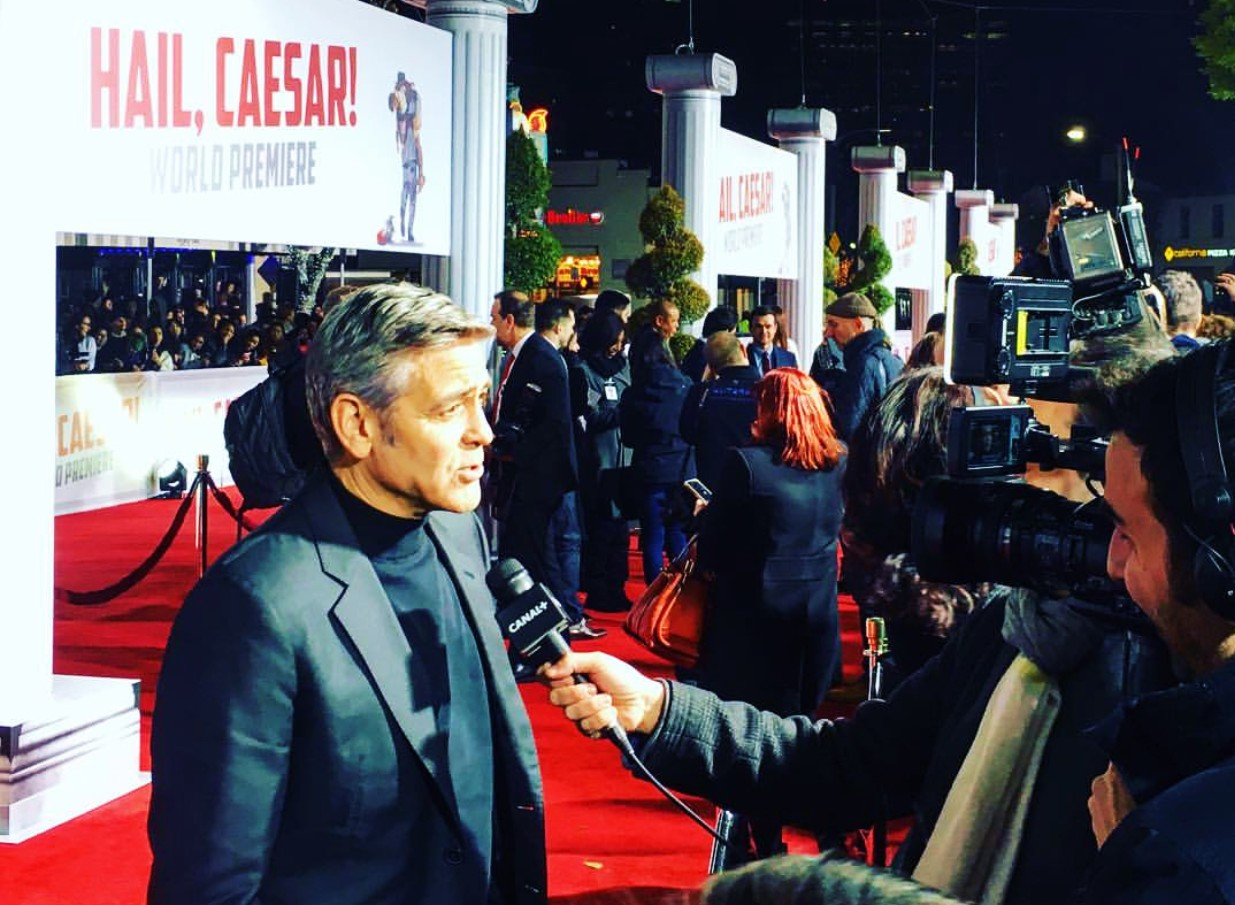 Hail Caesar, movie premiere, George Clooney, red hot