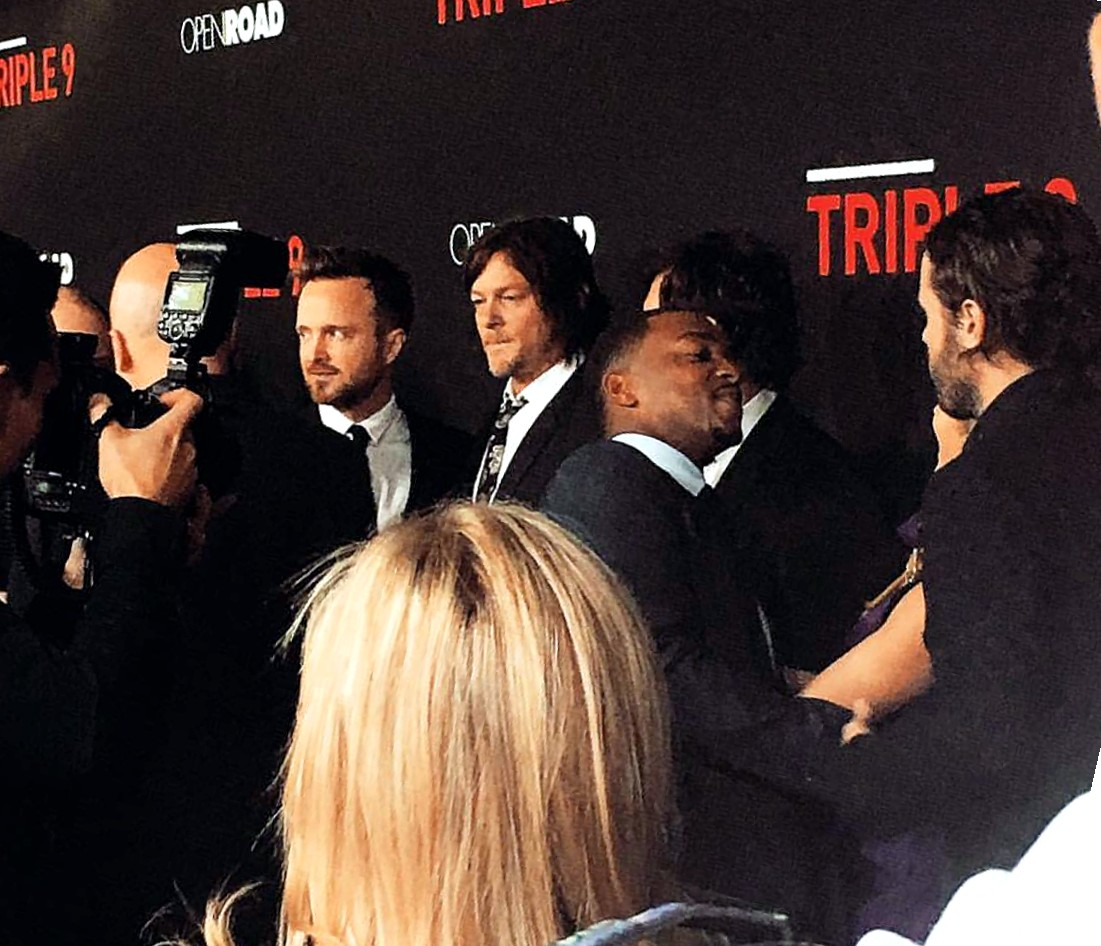 Triple 9, movie premiere, Anthony Mackie, Aaron Paul, Norman Reedus