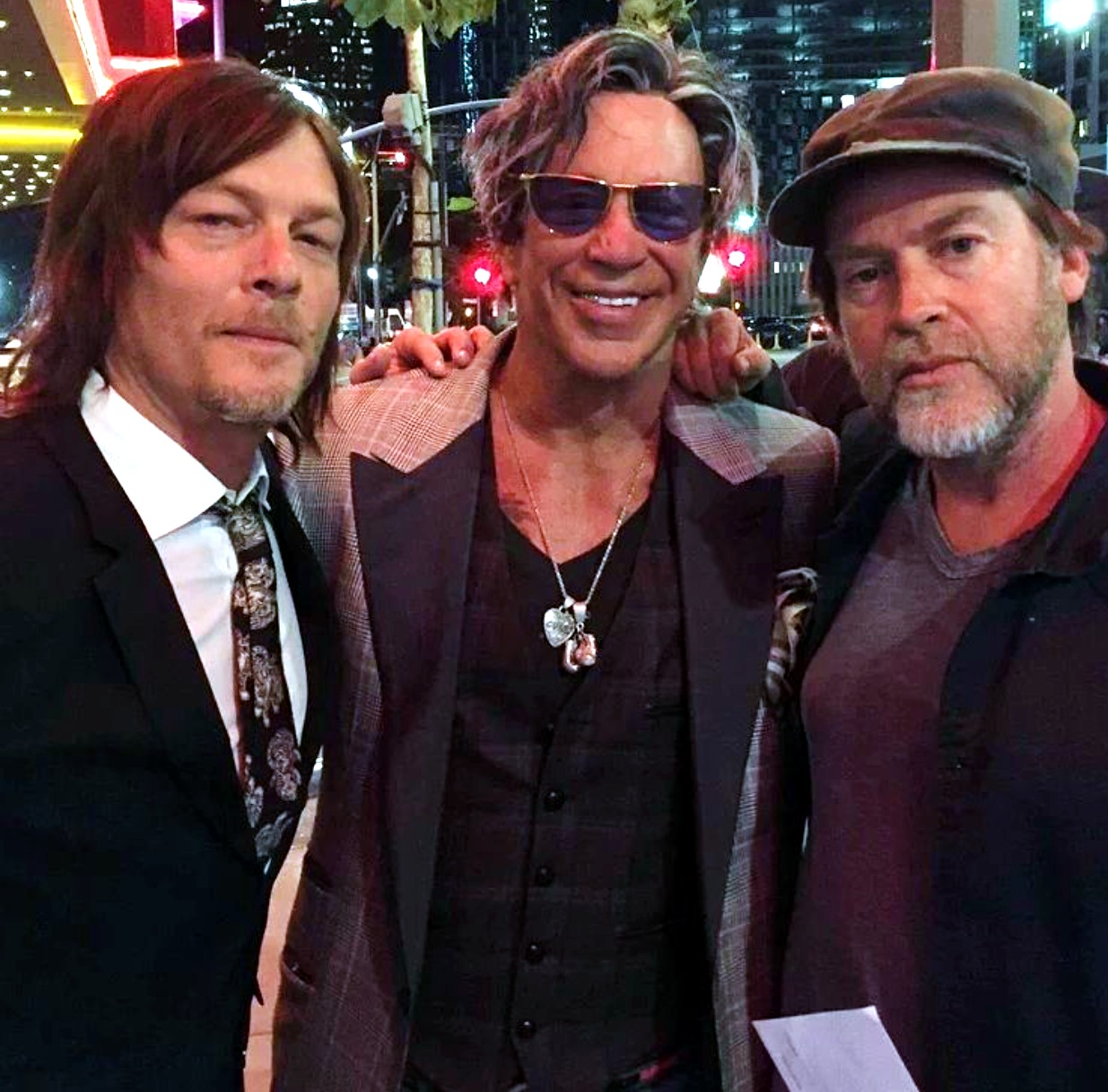 Triple 9, movie premiere, Mickey Rourke, Norman Reedus