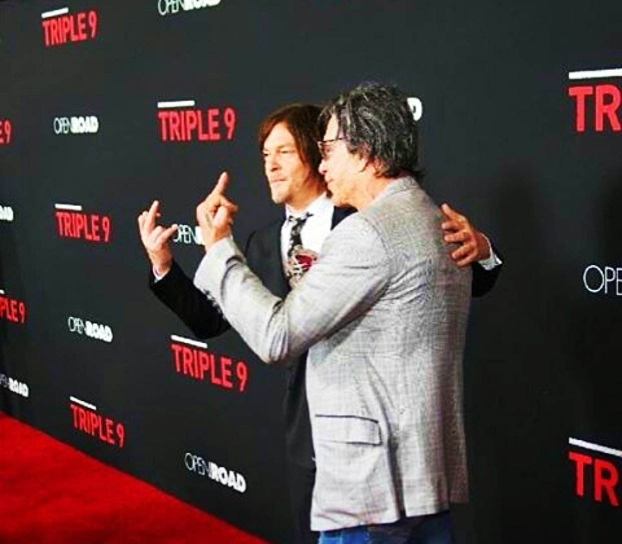 Triple 9, movie premiere, Norman Reedus, Mickey Rourke
