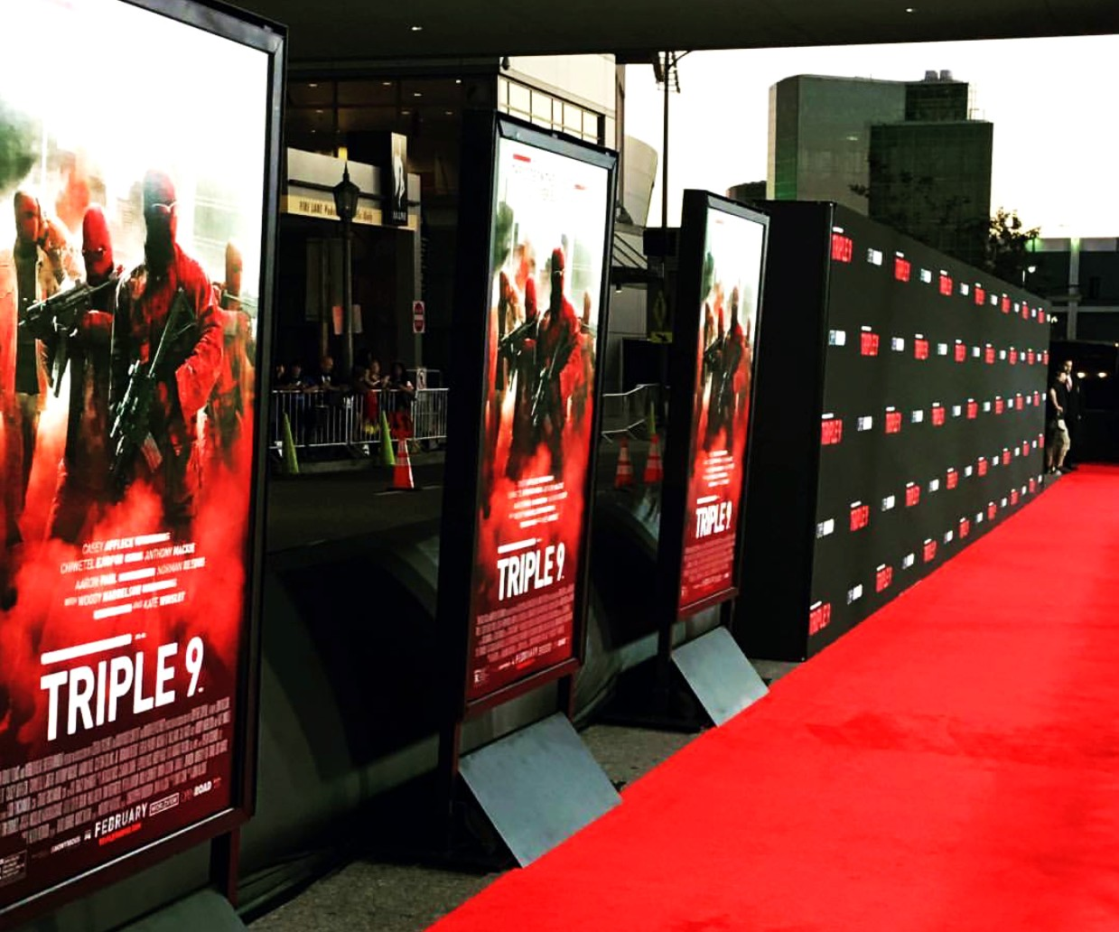 Triple 9, movie premiere, red carpet
