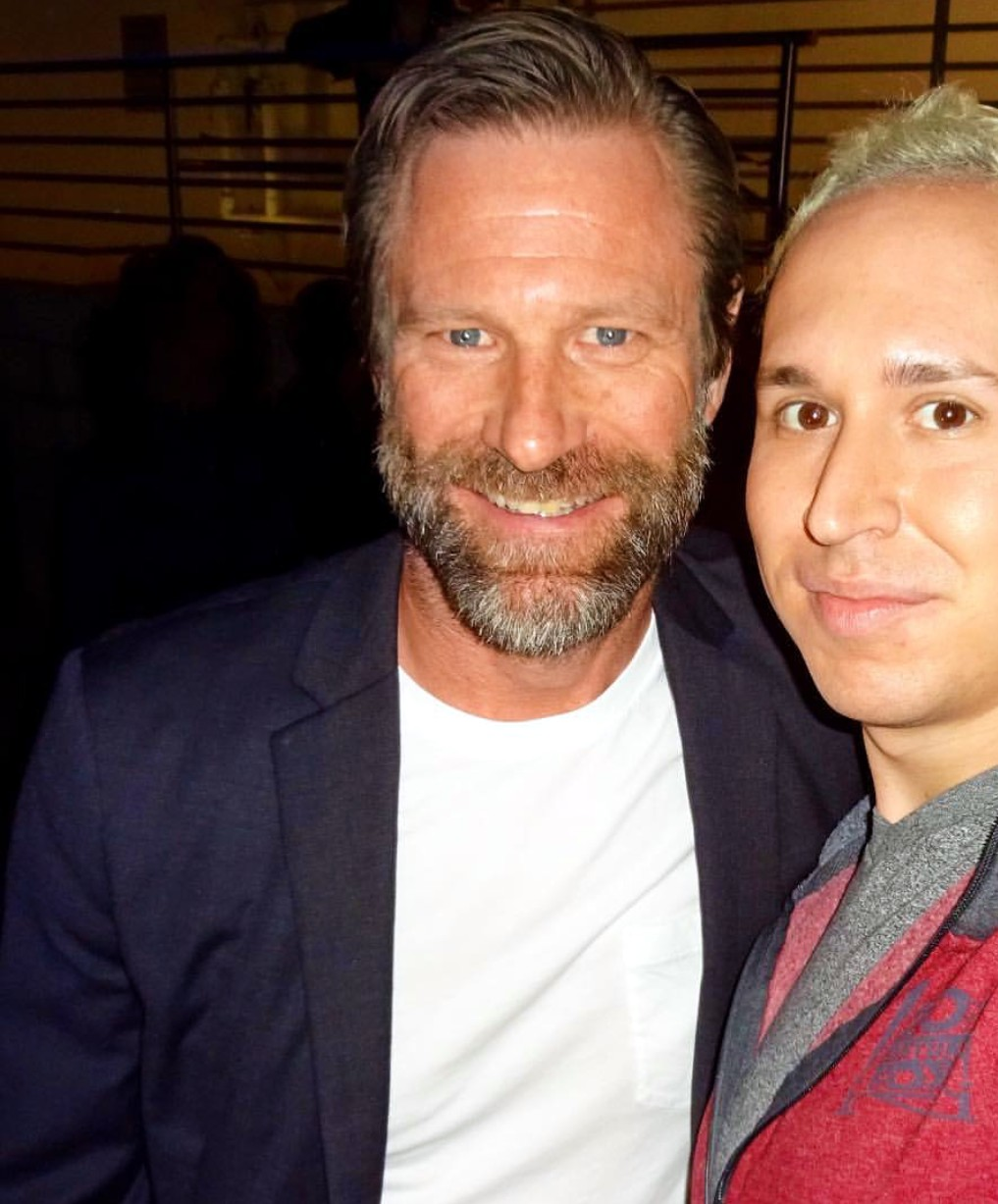 London Has Fallen, Aaron Eckhart, after party