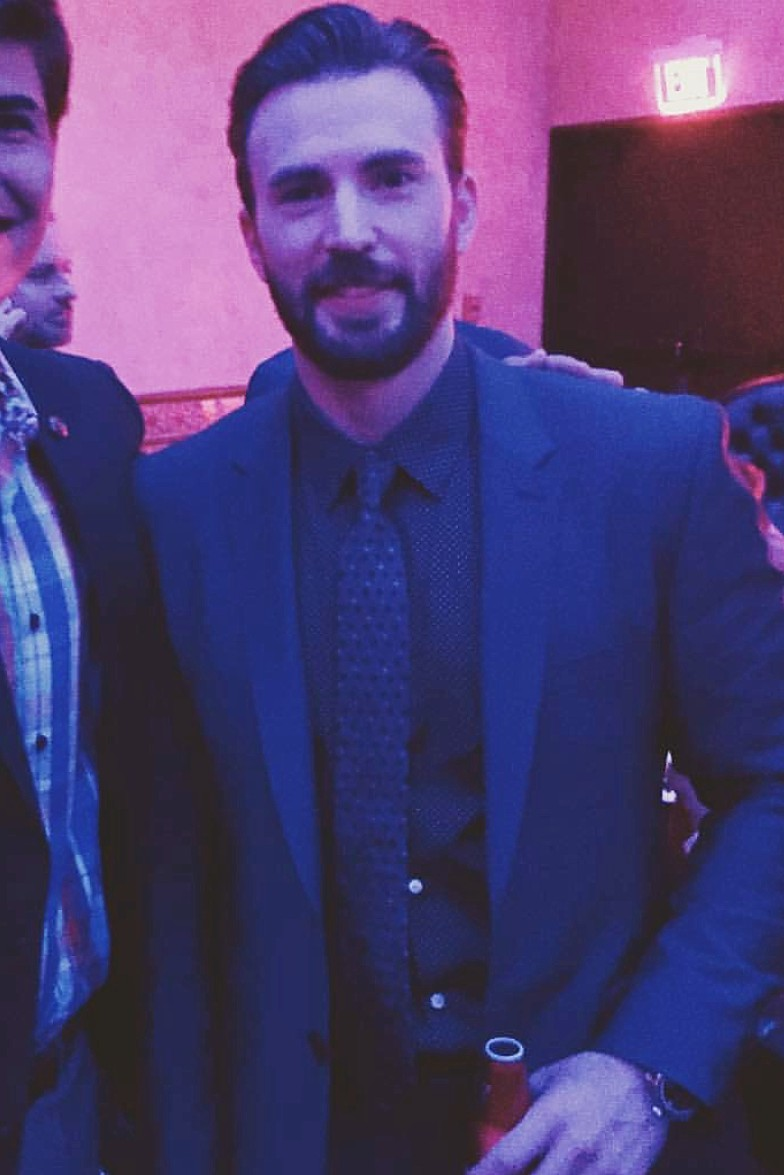 Captain America Civil War, Chris Evans, after party