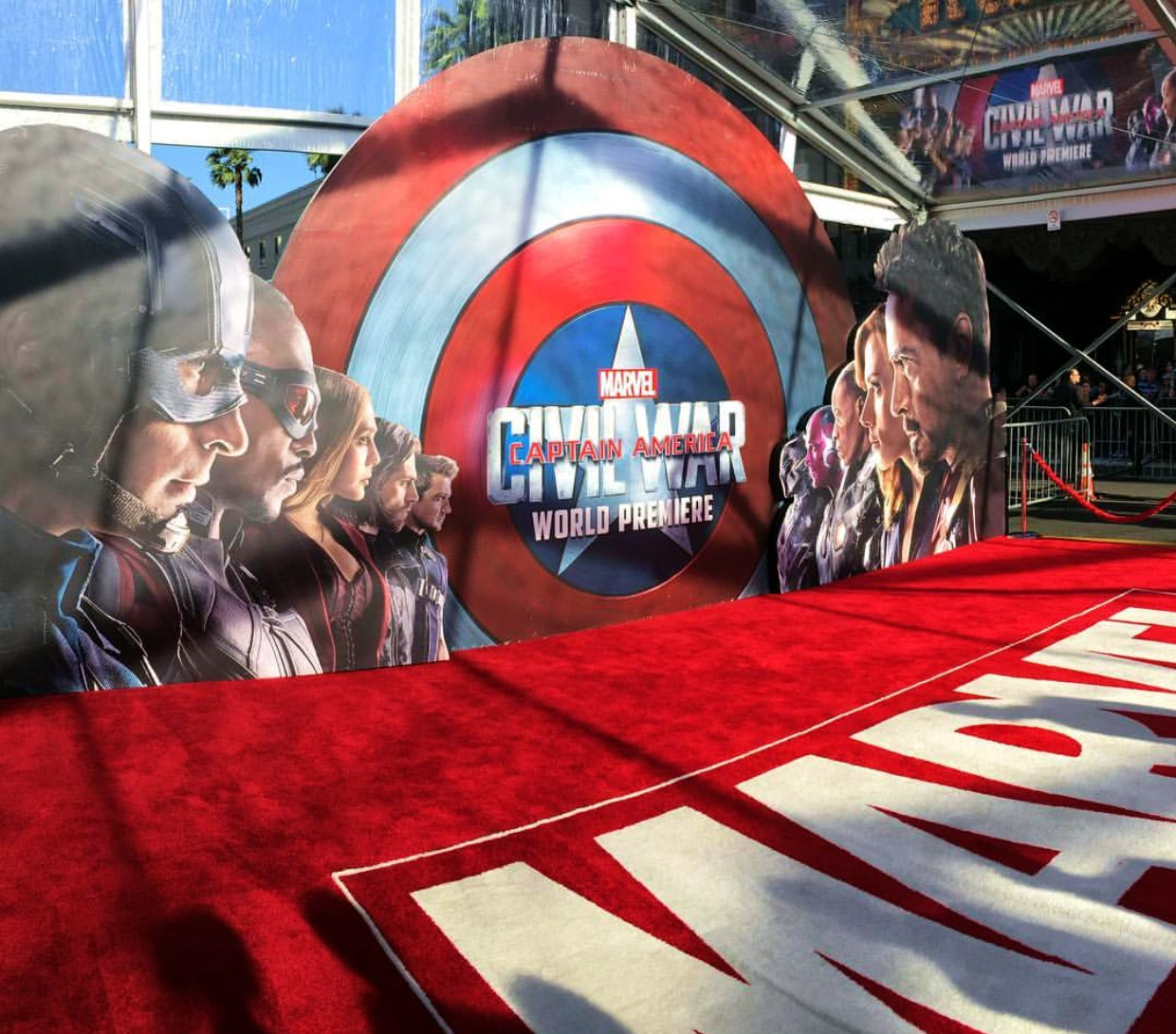 Captain America Civil War, red carpet
