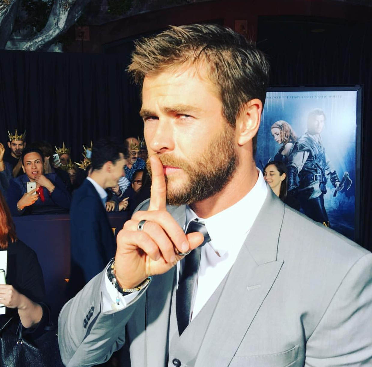 The Huntsman Winter's War, Chris Hemsworth, premiere