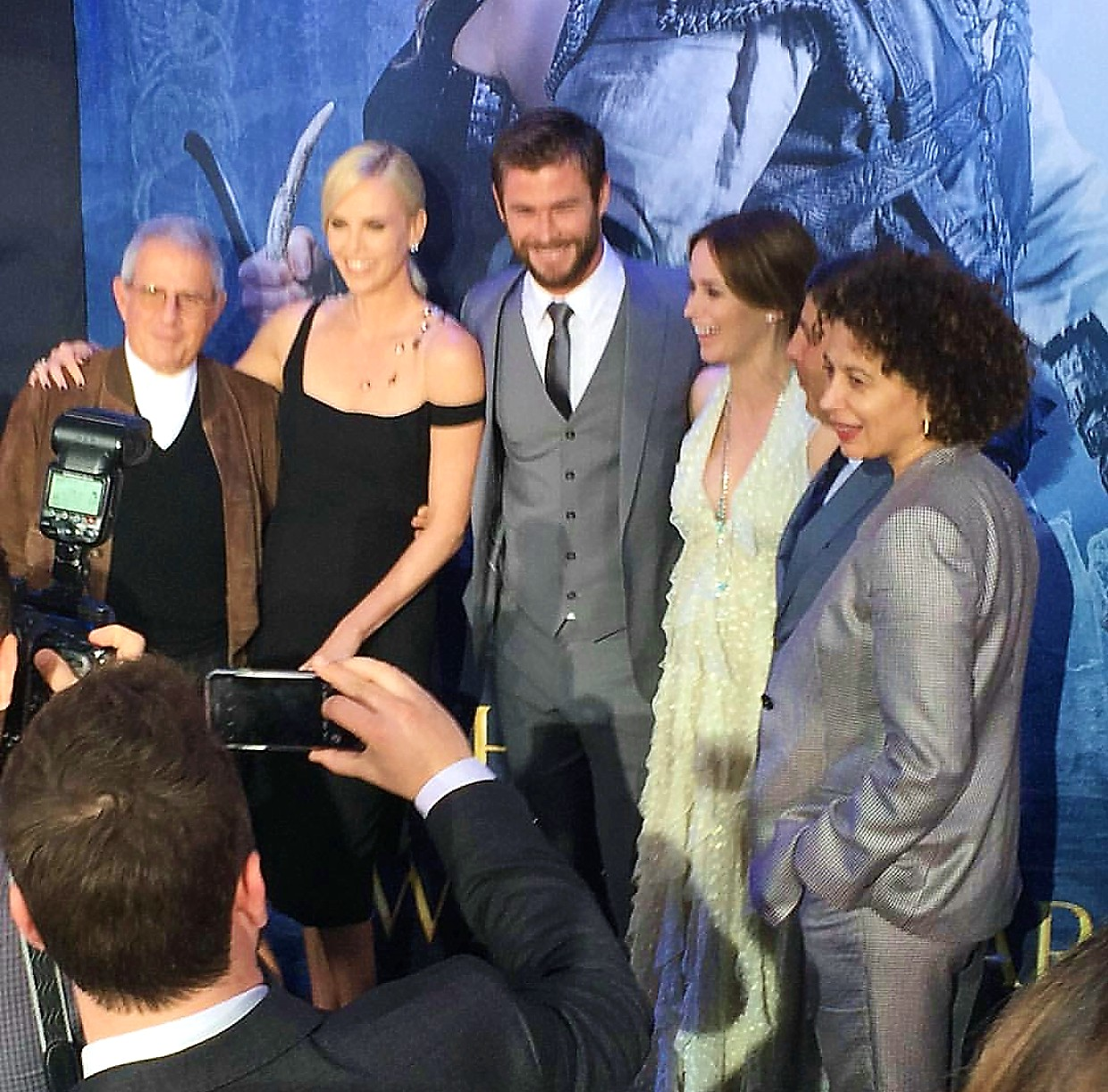 The Huntsman Winter's War, movie premiere, Charlize Theron, Chris Hemsworth, Emily Blunt