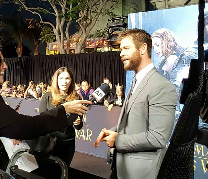 The Huntsman Winter's War, movie premiere, Chris Hemsworth