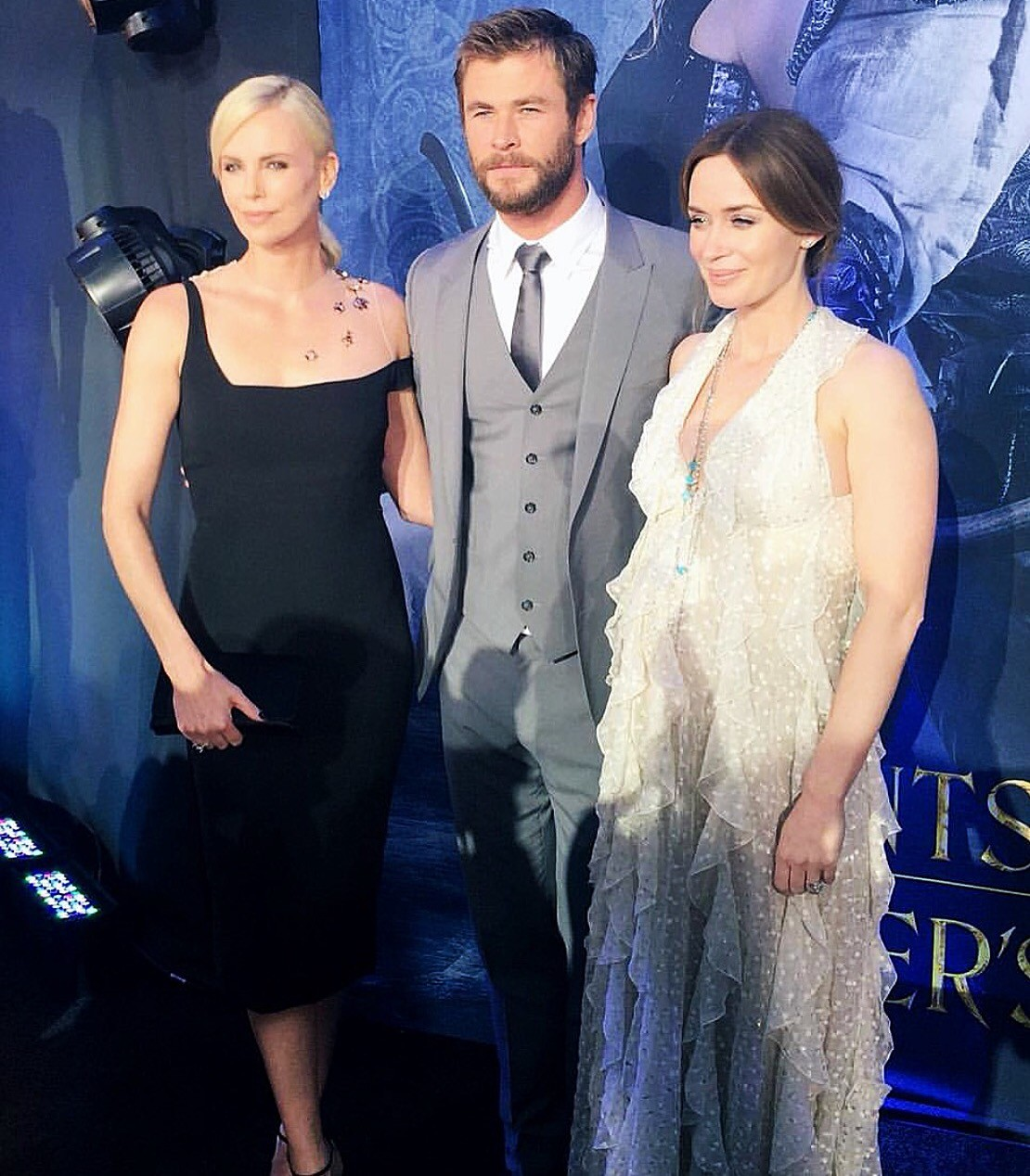 The Huntsman Winter's War, movie premiere, Emily Blunt, Chris Hemsworth, Charlize Thereon