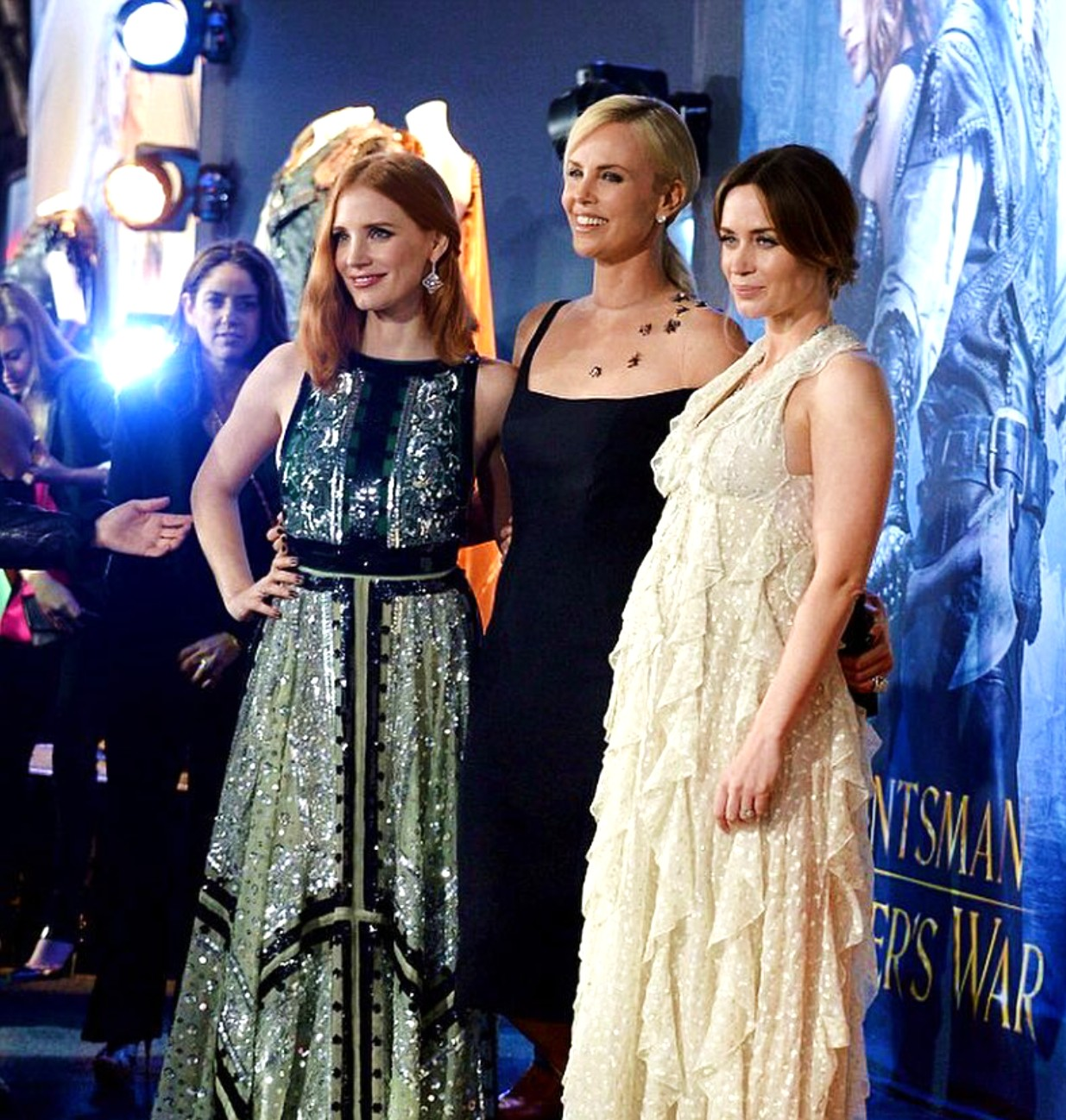 The Huntsman Winter's War, movie premiere, Jessica Chastain, Charlize Theron, Emily Blunt