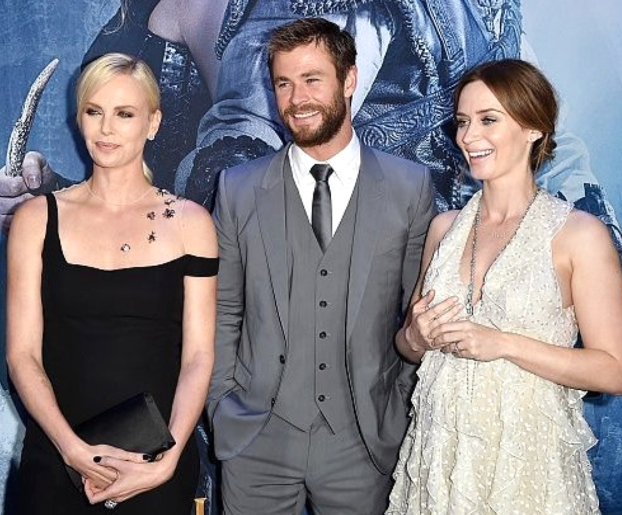 The Huntsman Winter's War, premiere, Chris Hemsworth, Emily Blunt, Charlize Theron