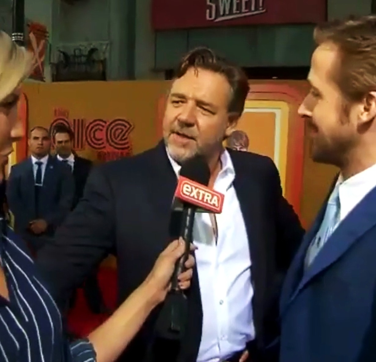 The Nice Guys, movie premiere, Russell Crowe, Ryan Gosling, LA